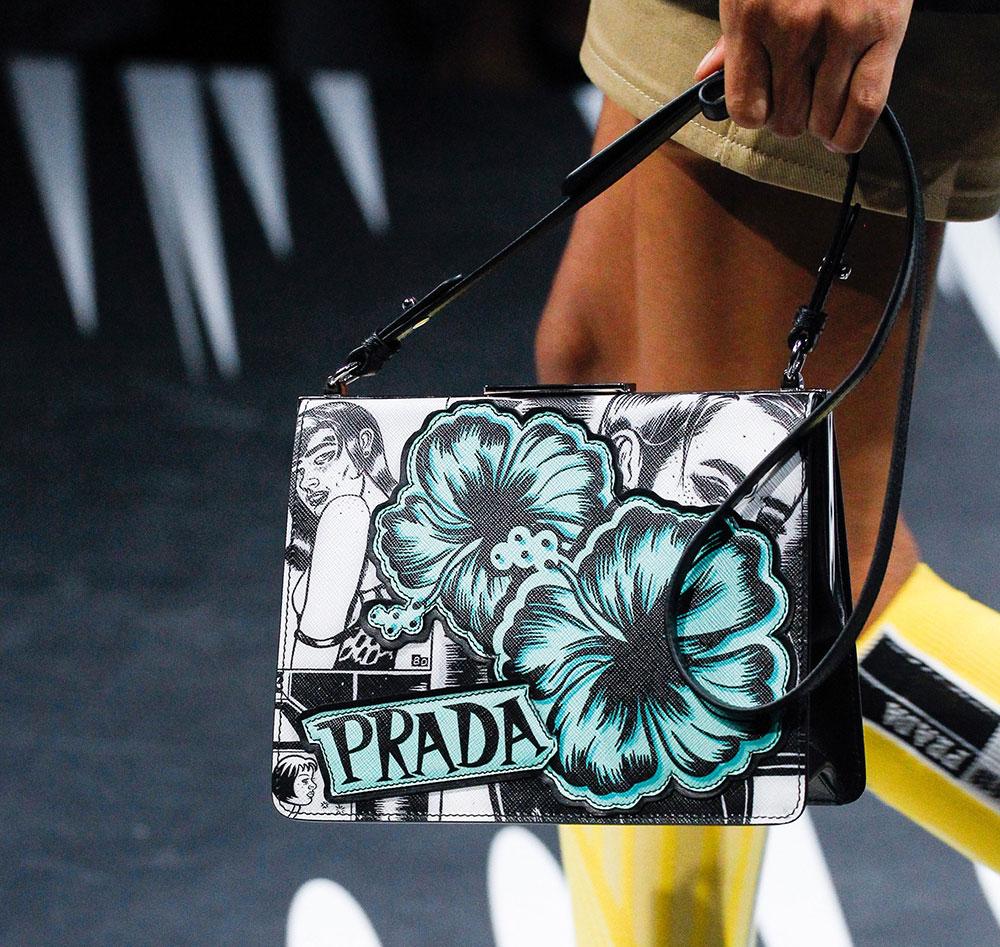 Prada весна лето 2018 сумка с цветами