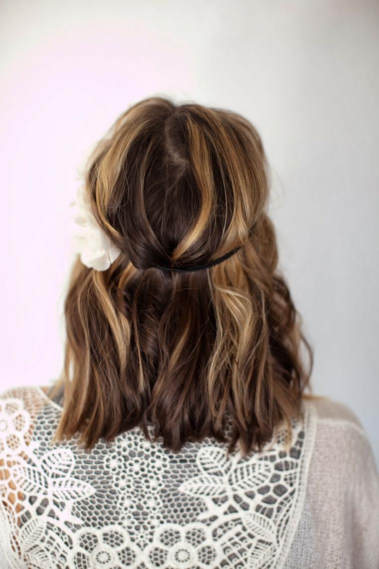 Стрижка на средние волосы 2018 свадебная