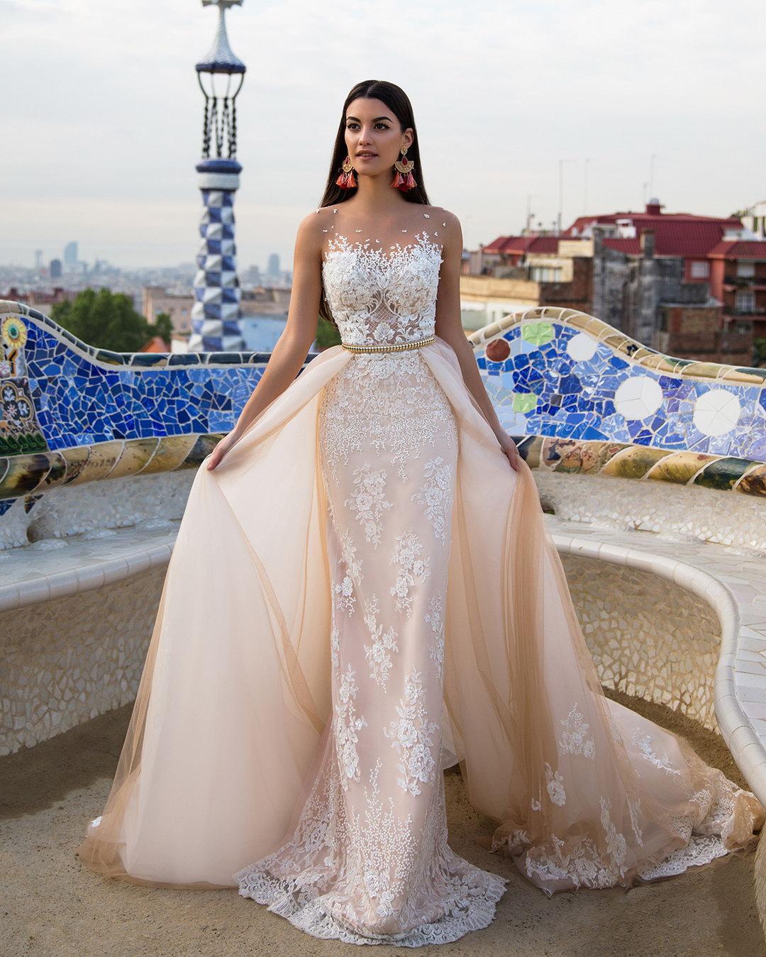 Платье трансформер свадебное бежевое