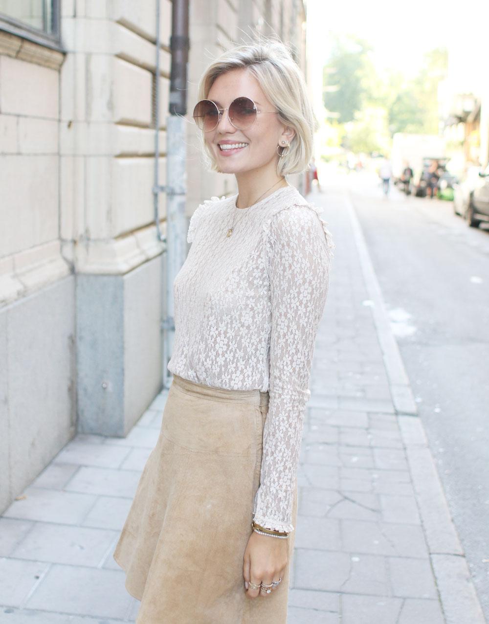 Бежевая юбка светлая