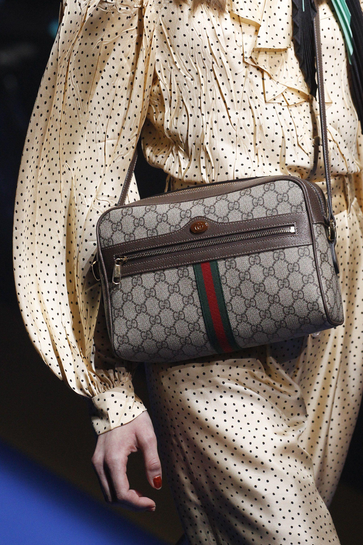 Gucci весна лето 2018 сумка тканевая