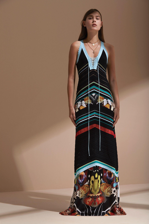 Платье бохо трикотажное