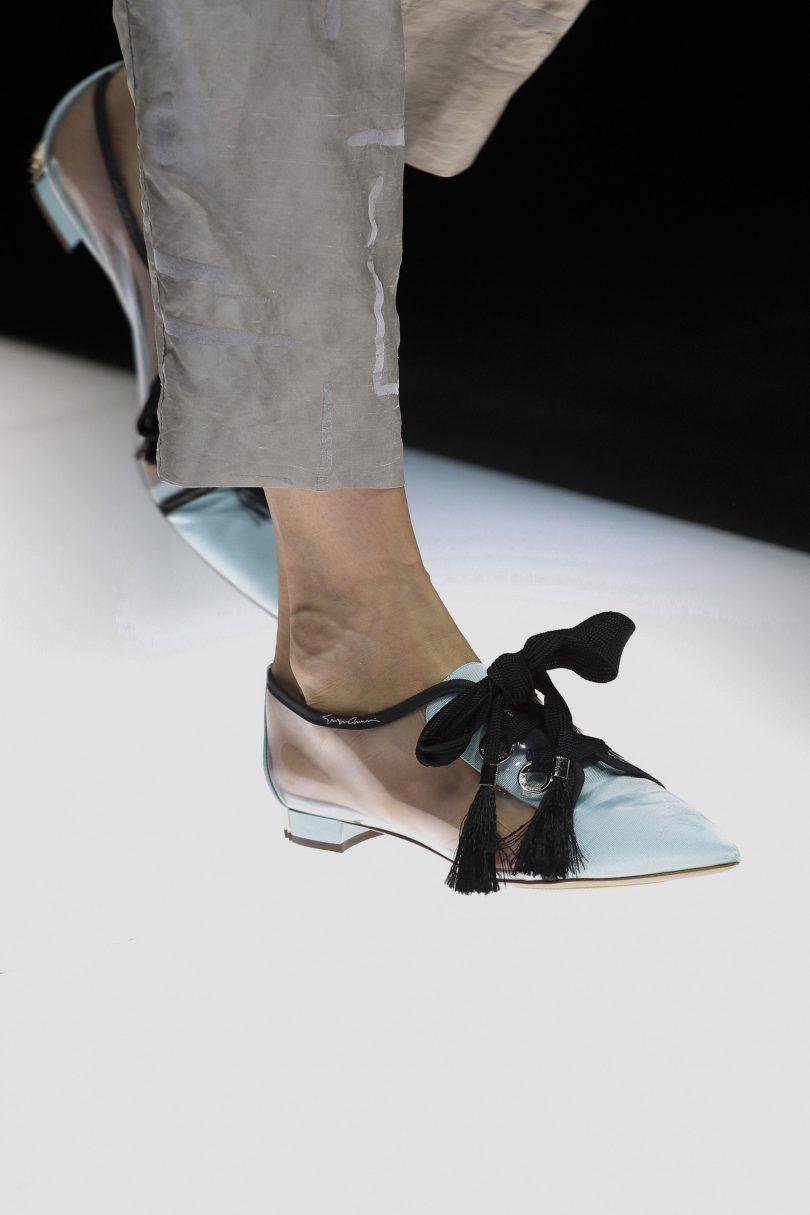Giorgio Armani весна лето 2018 туфли
