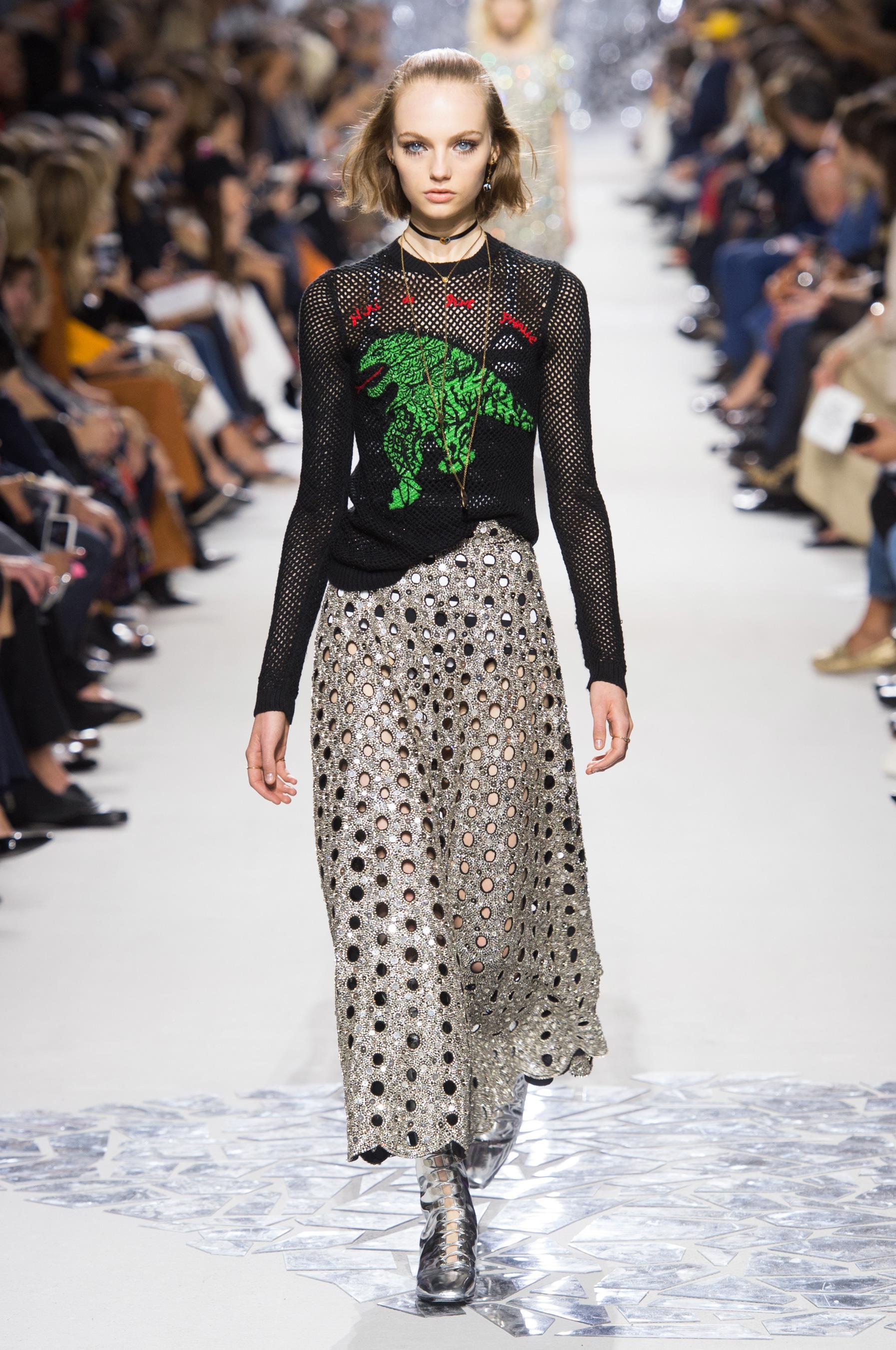 Christian Dior весна лето 2018 юбка