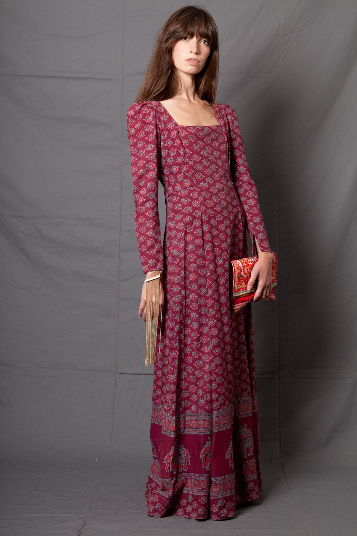 Платье бохо с узором