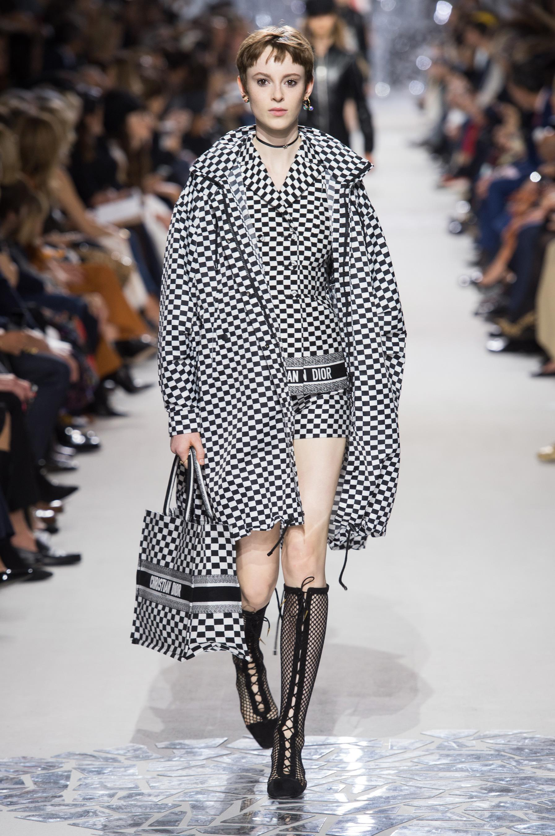 Christian Dior весна лето 2018 черно-белый узор