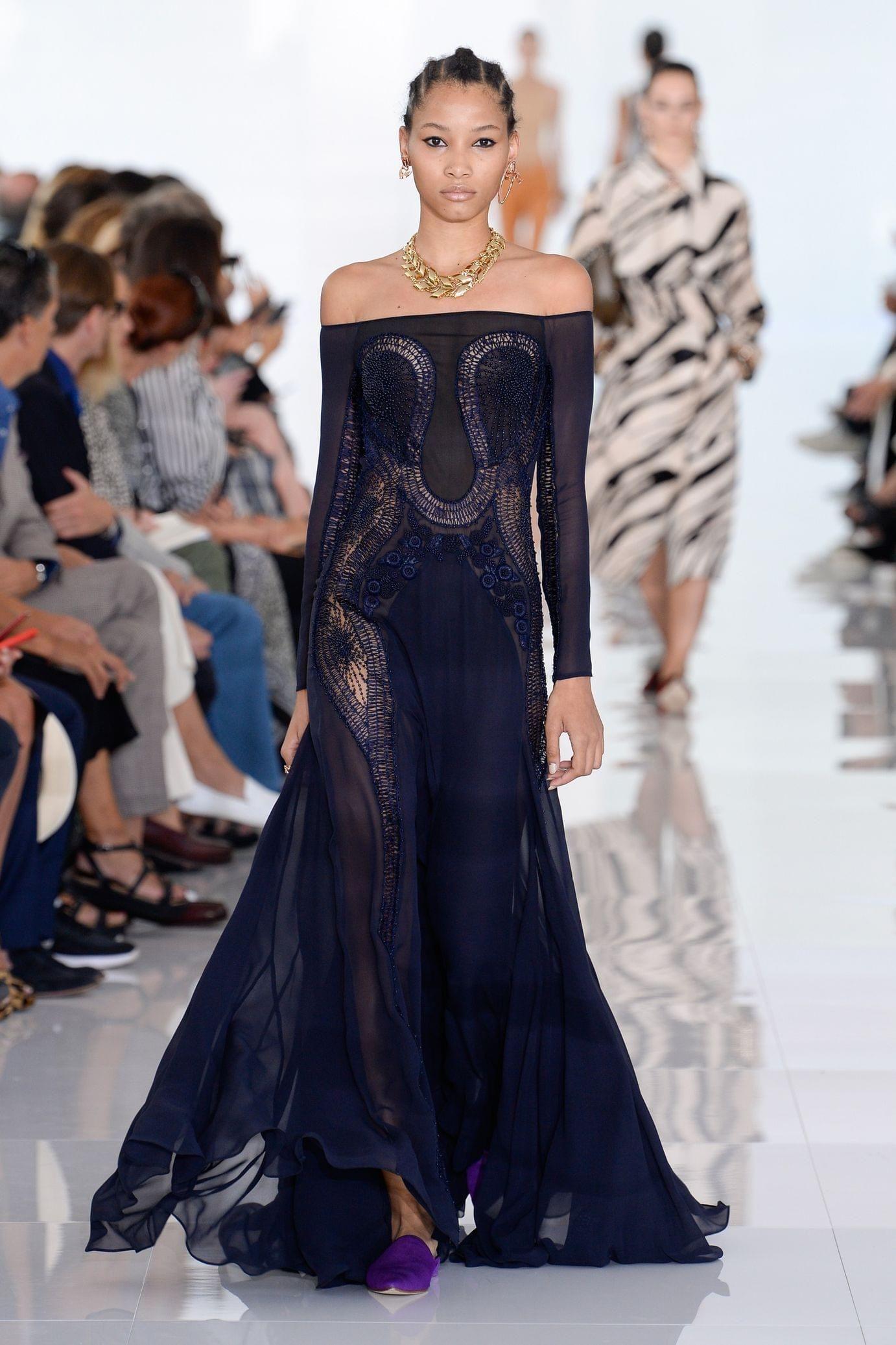 Roberto Cavalli весна лето 2018 вечернее платье