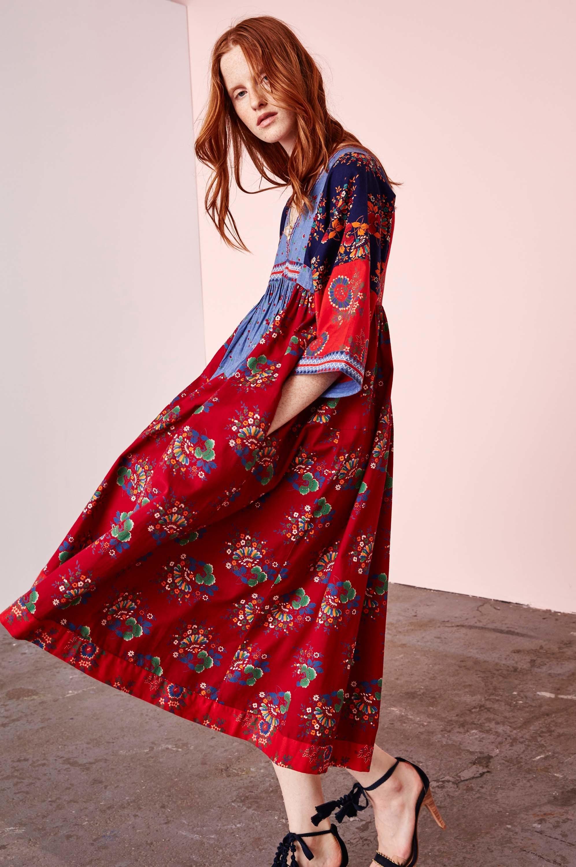 Платье бохо яркое