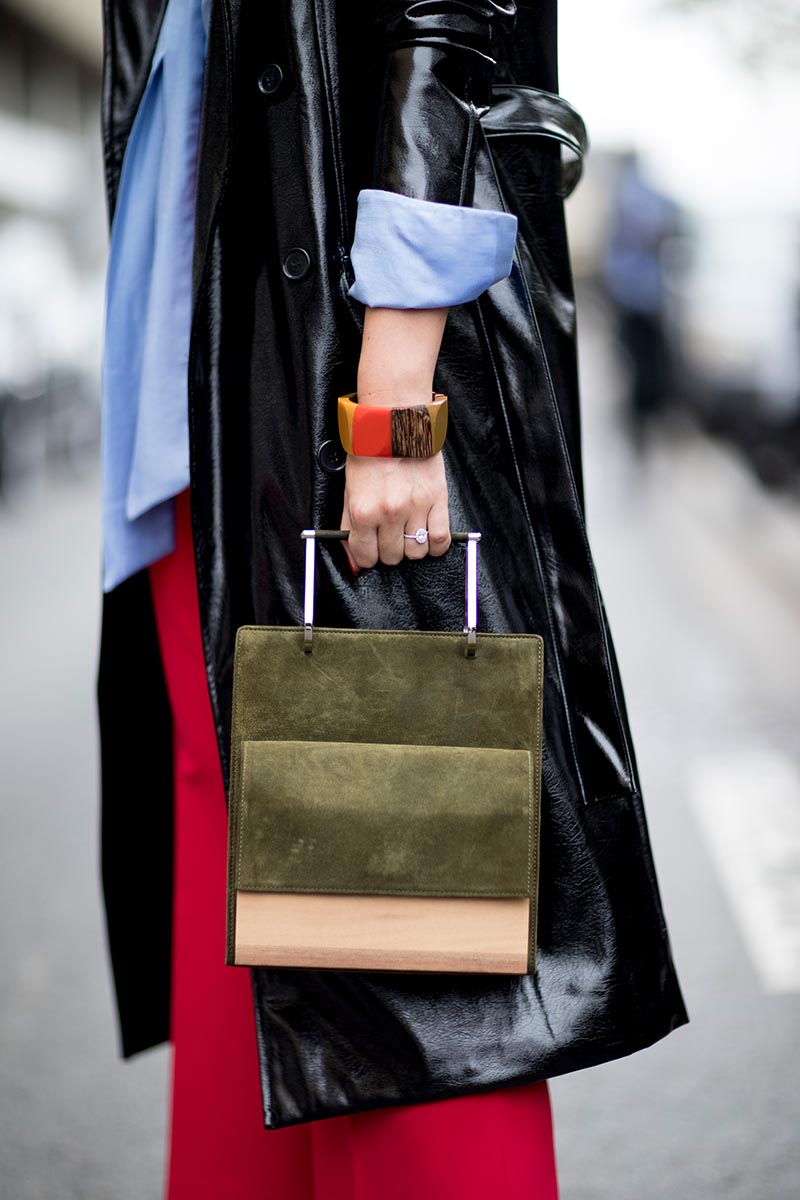 Кожаная сумка женская замшевая