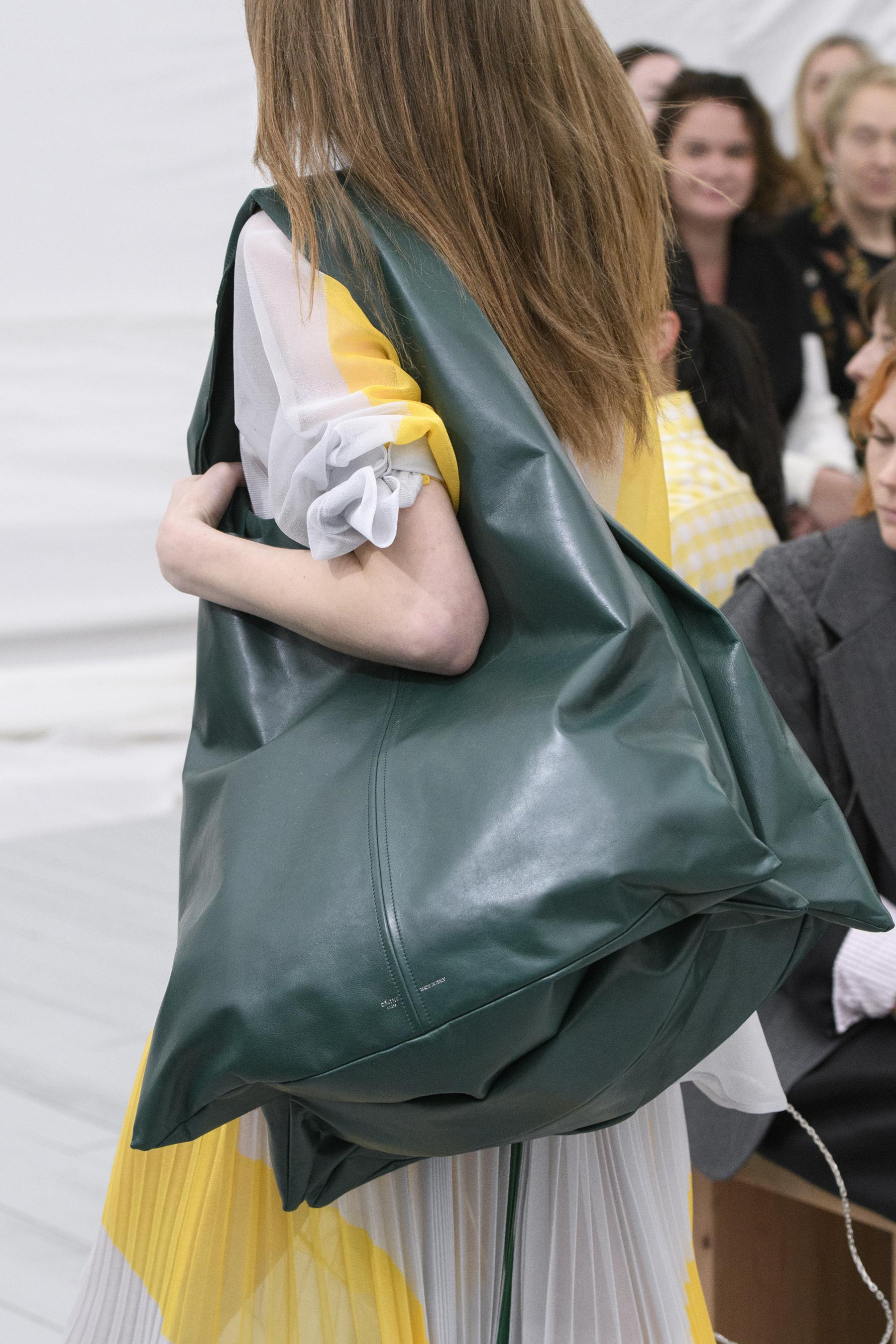 Кожаная сумка женская зеленая