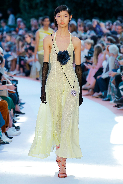 Missoni весна лето 2018 желтое платье