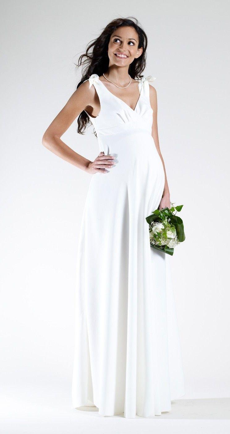 Свадебное платье для беременных атласное
