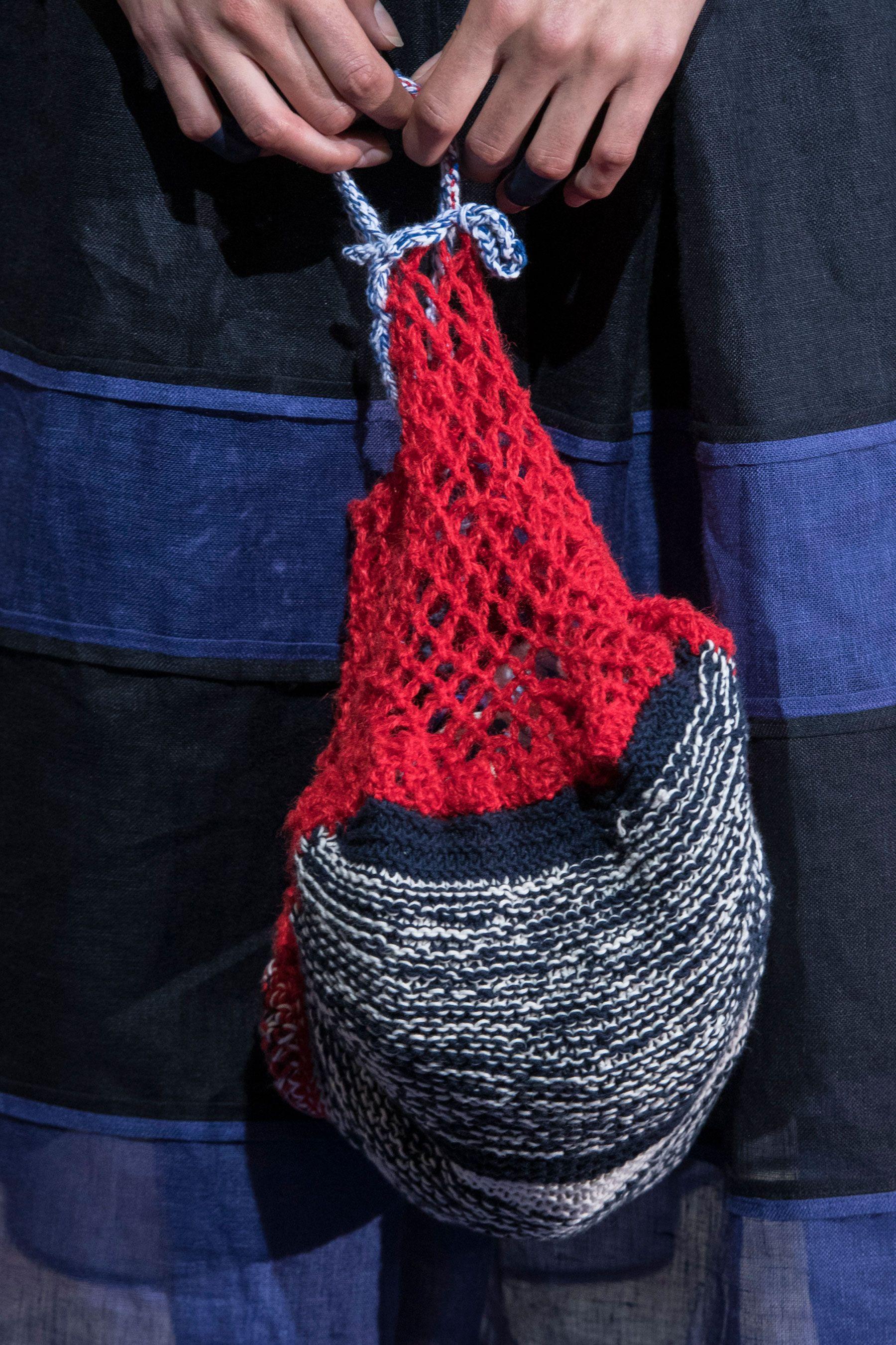 Вязаная сумка авоська