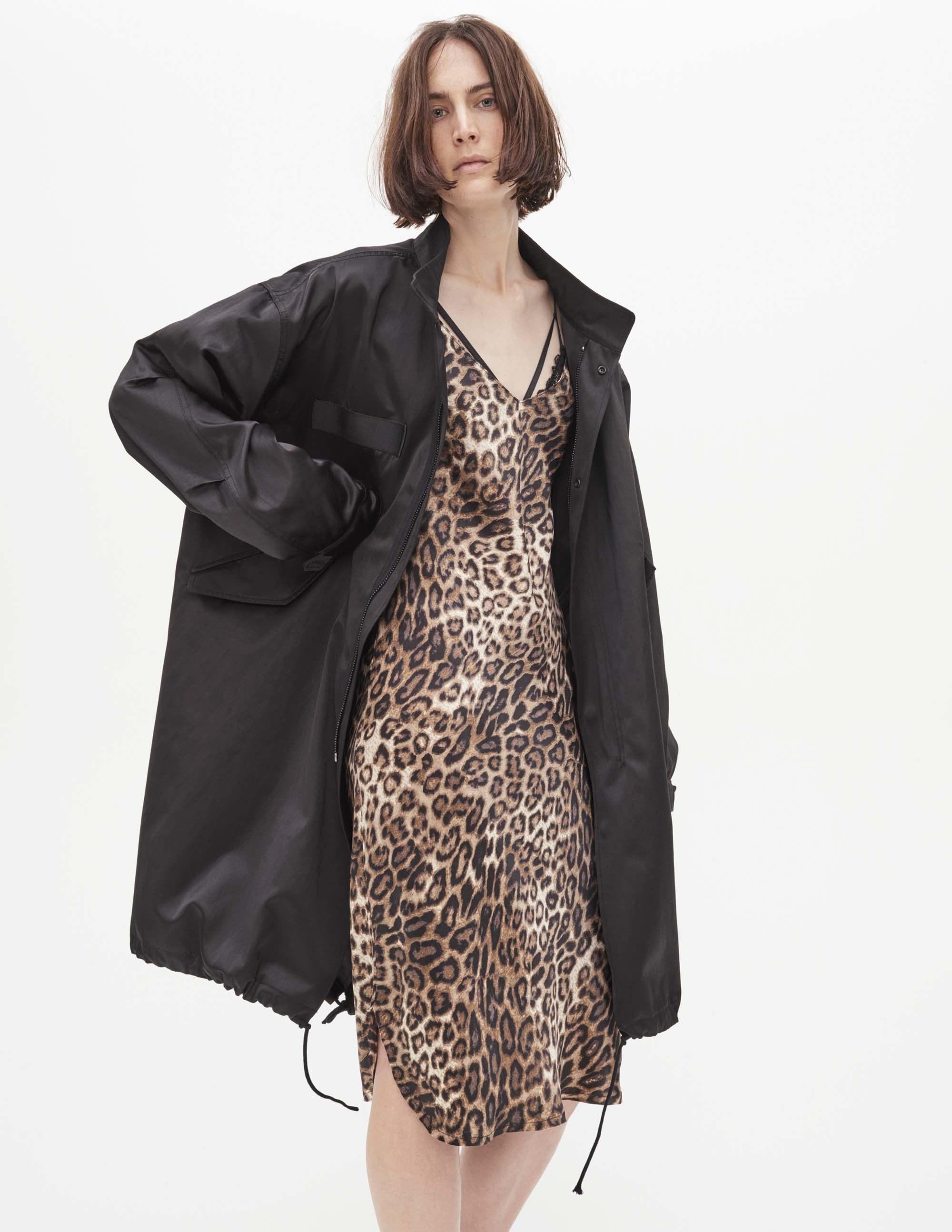 Платье леопардовое в бельевом стиле