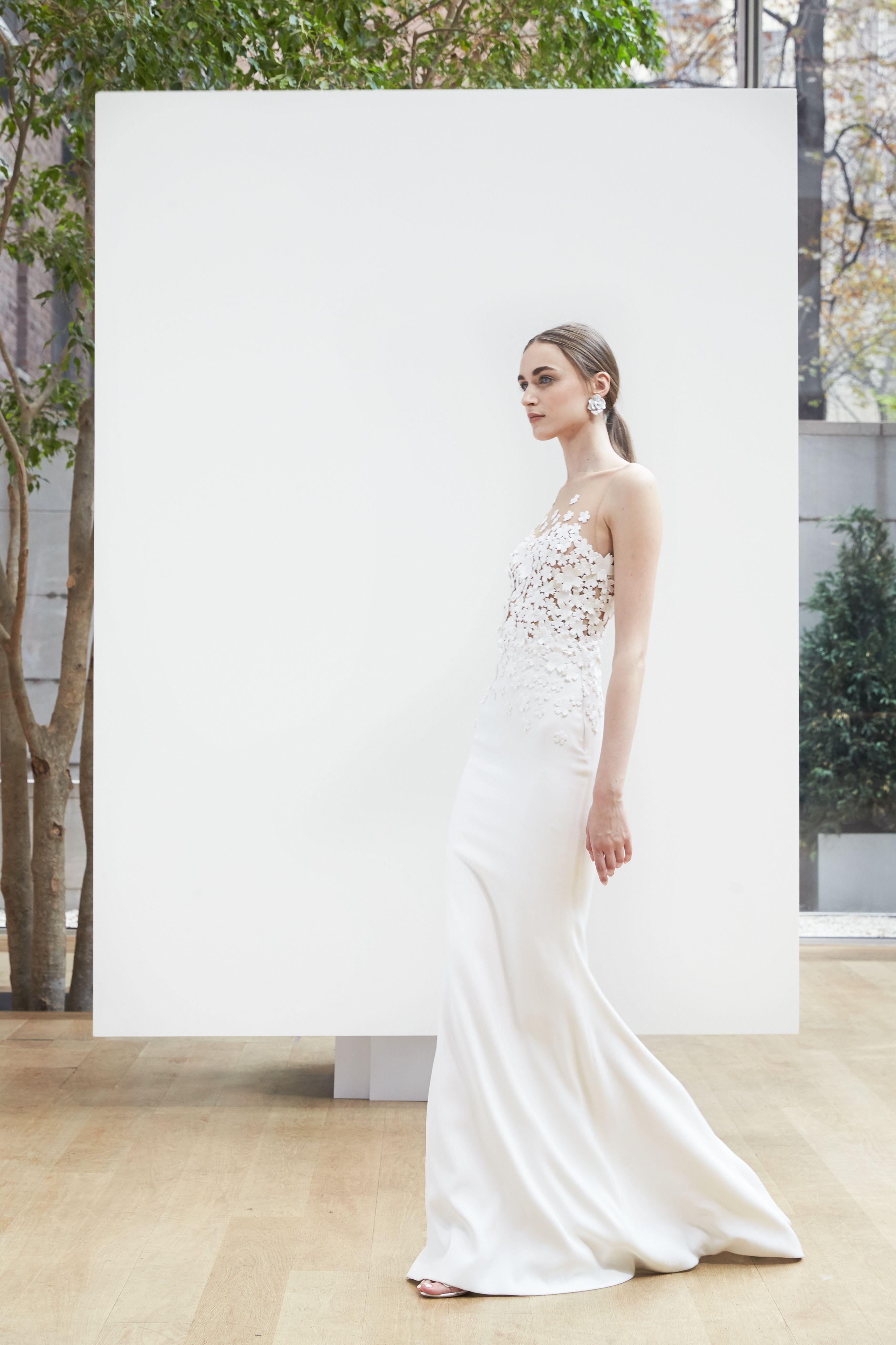 Свадебное платье рыбка белое