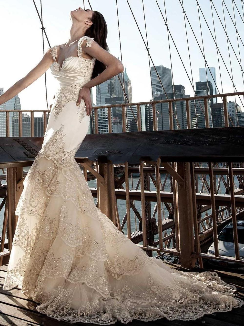 Свадебное платье рыбка с блестками