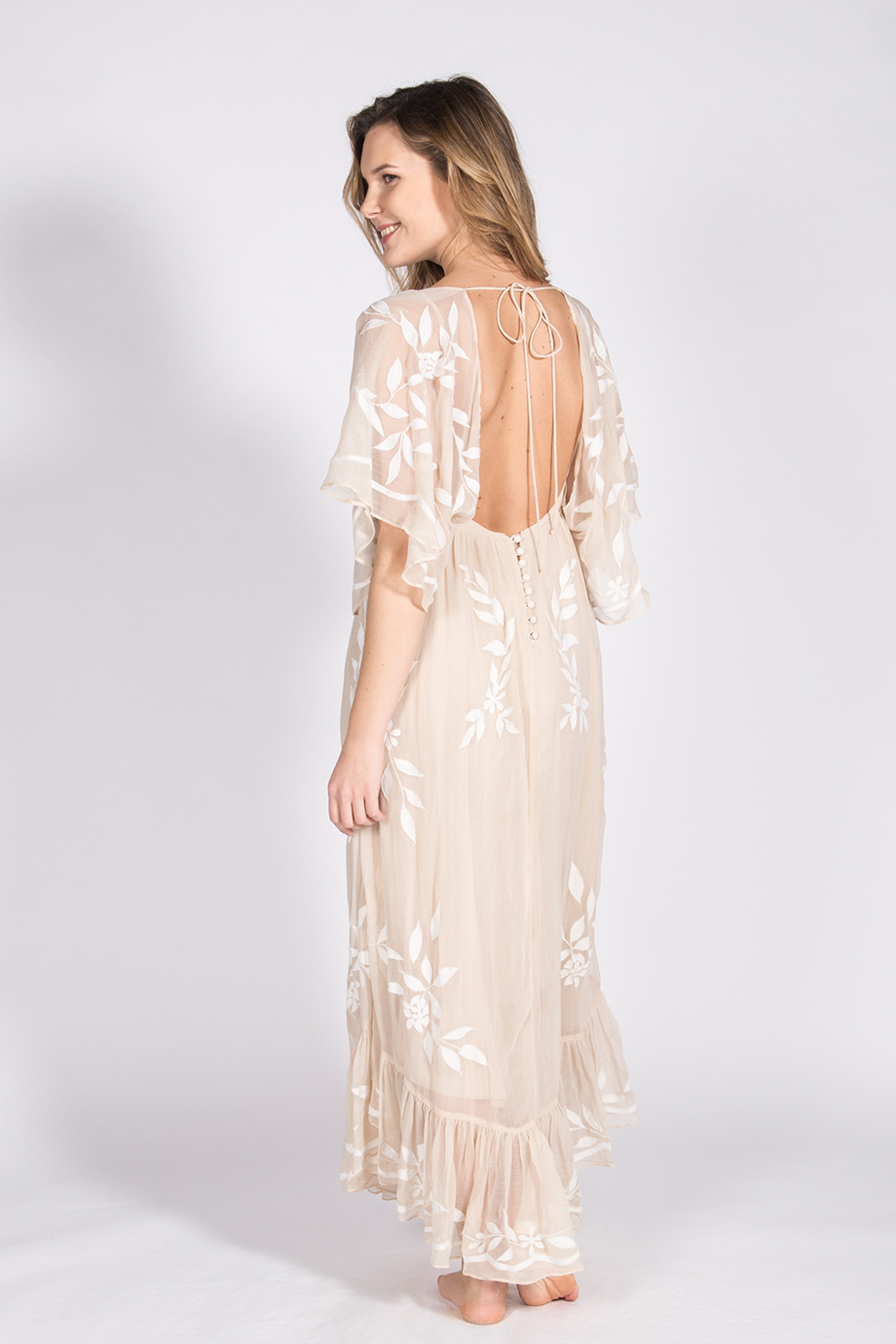 Свадебное платье айвори в стиле бохо