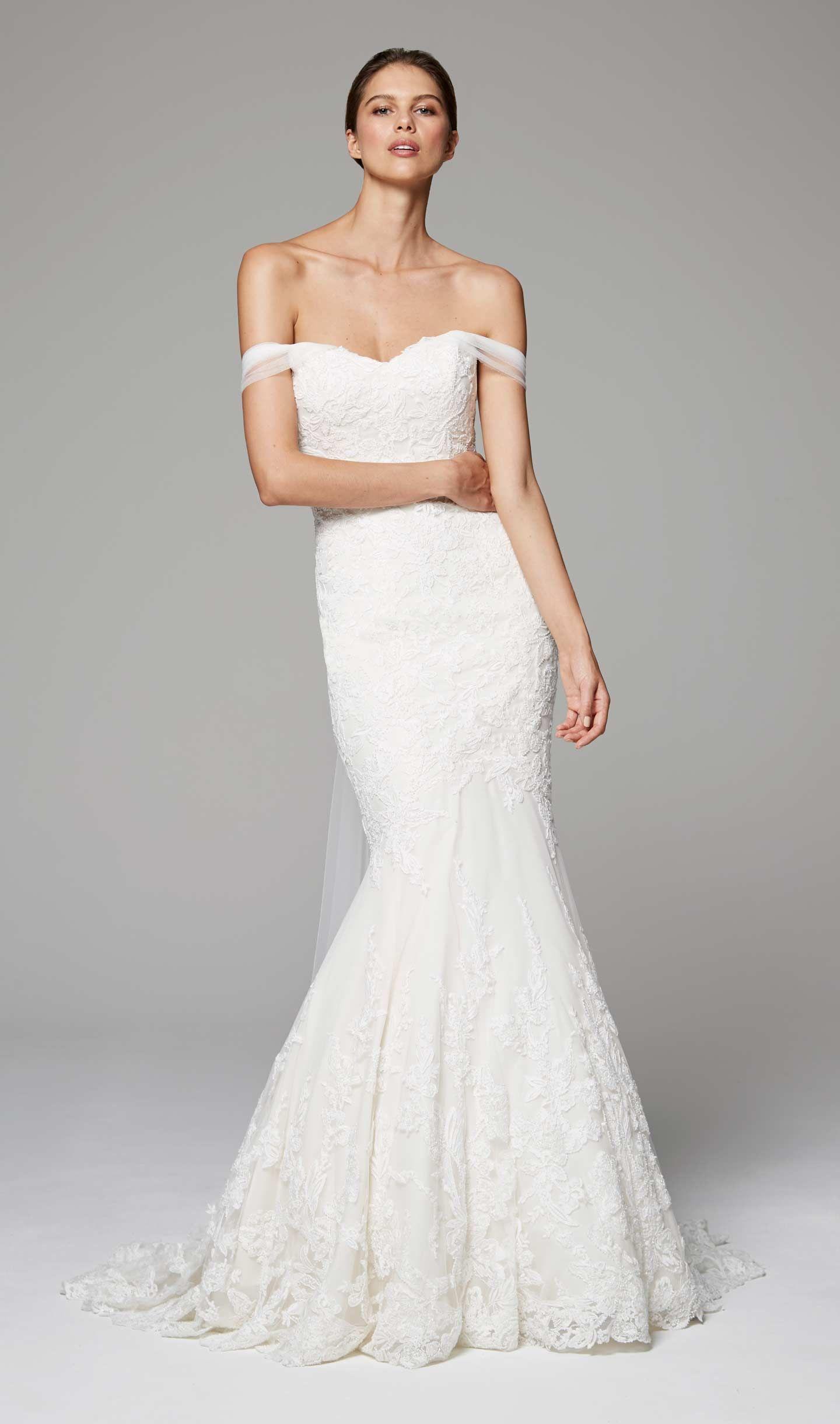 Свадебное платье рыбка на бретелях