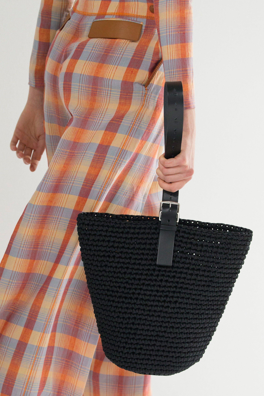 Вязаная сумка черная