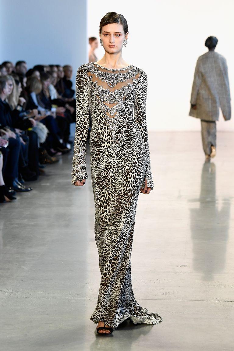 Платье леопардовое черно-белое