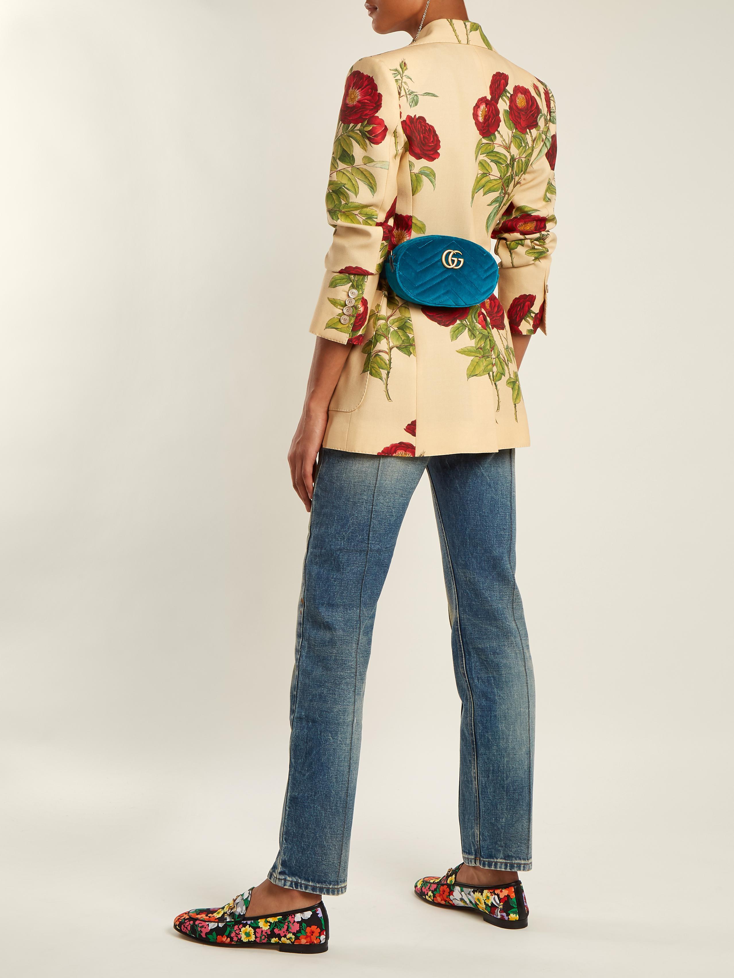 Мокасины женские с цветами