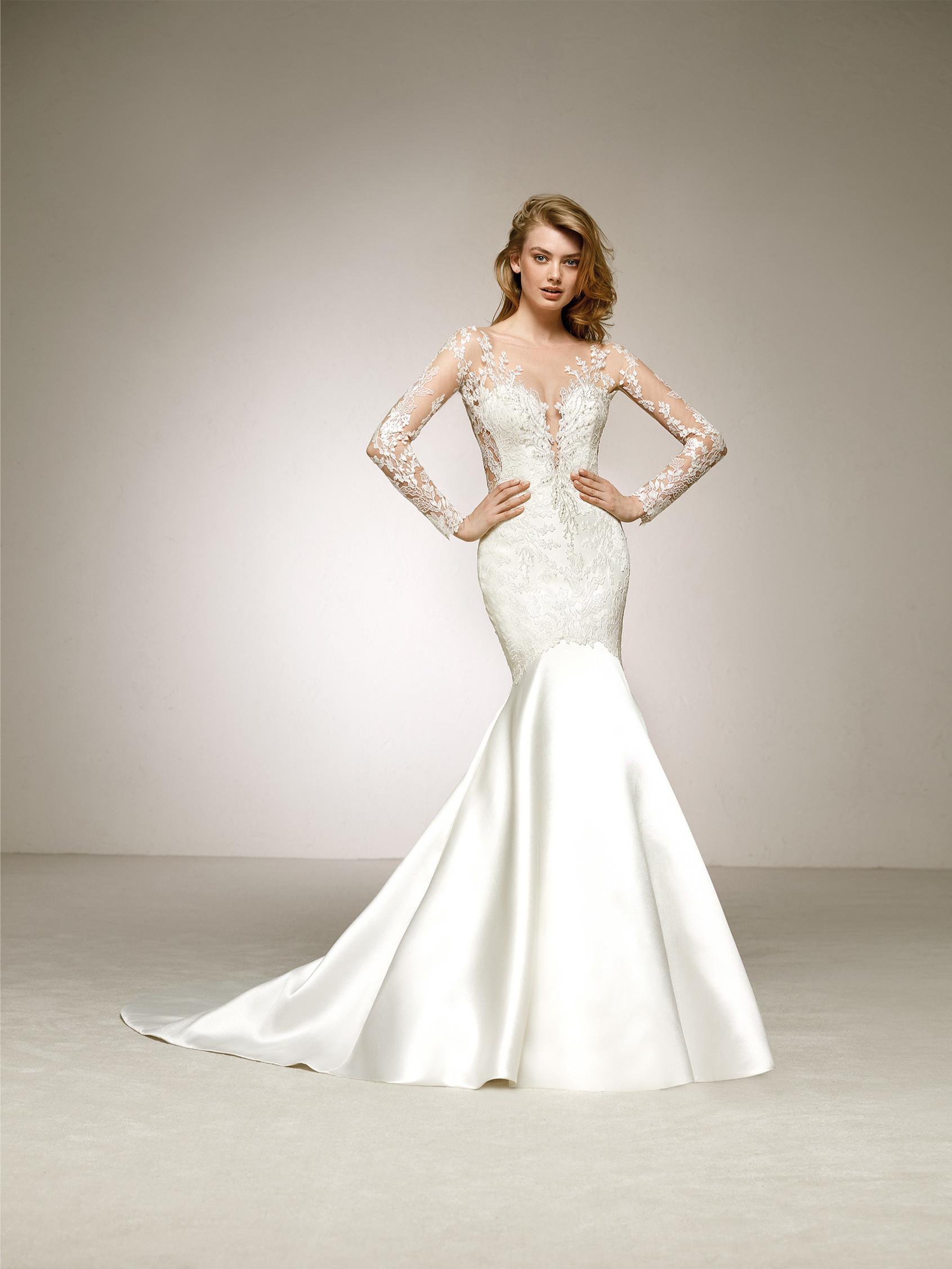 Свадебное платье рыбка с декольте