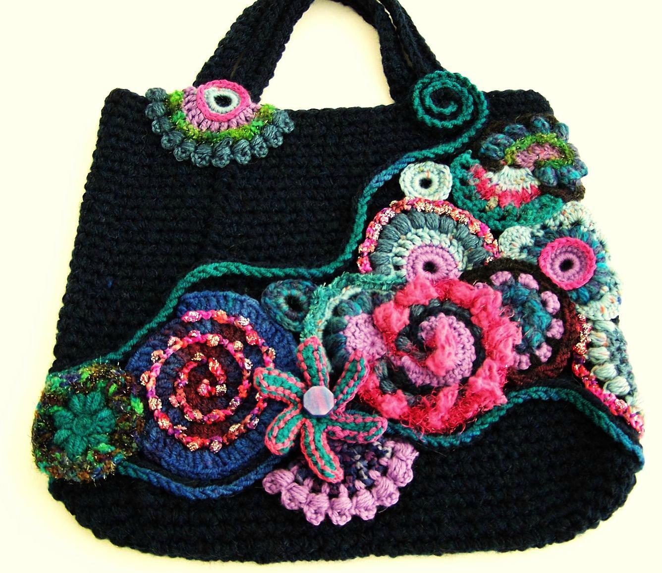 Вязаная сумка с декором