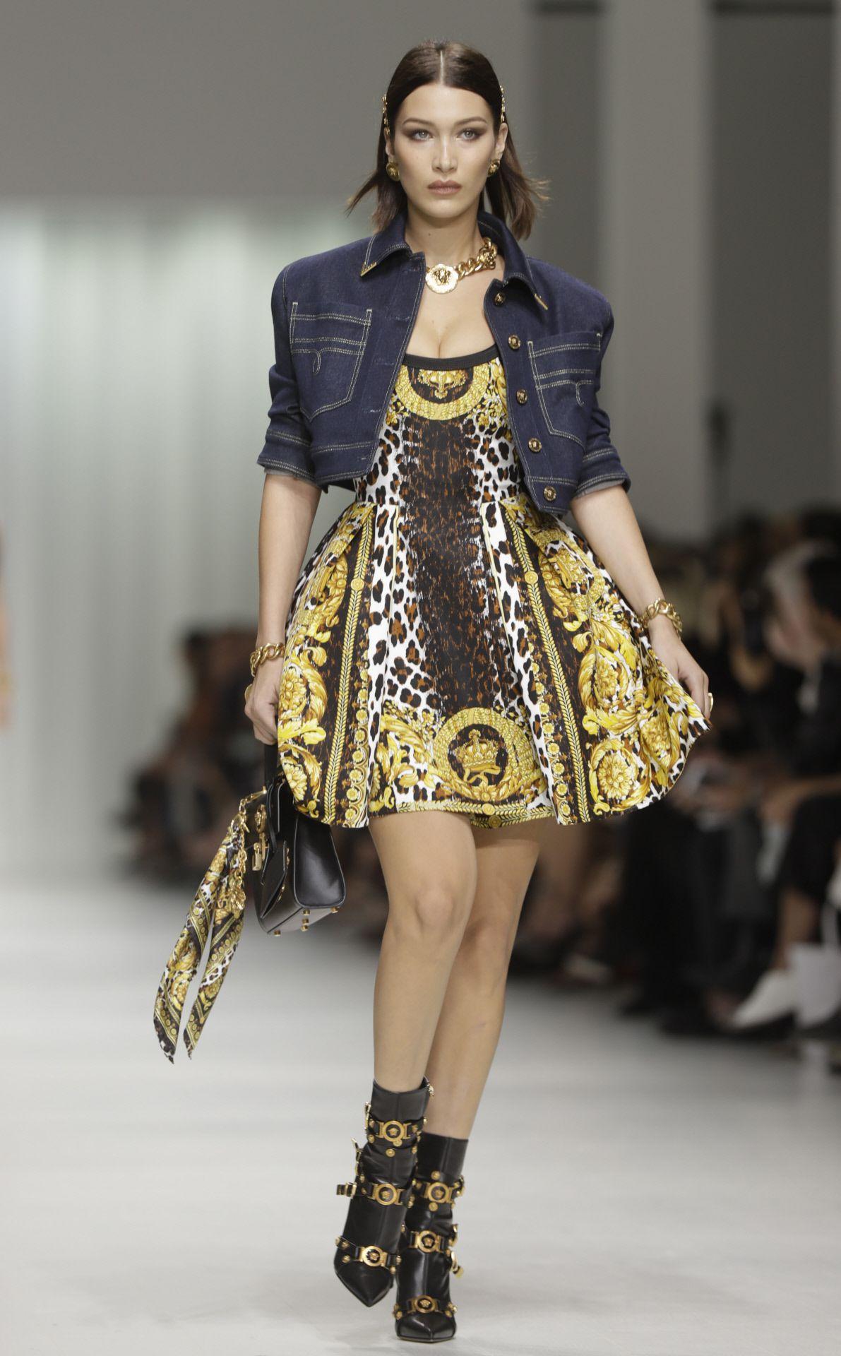 Платье леопардовое с декором