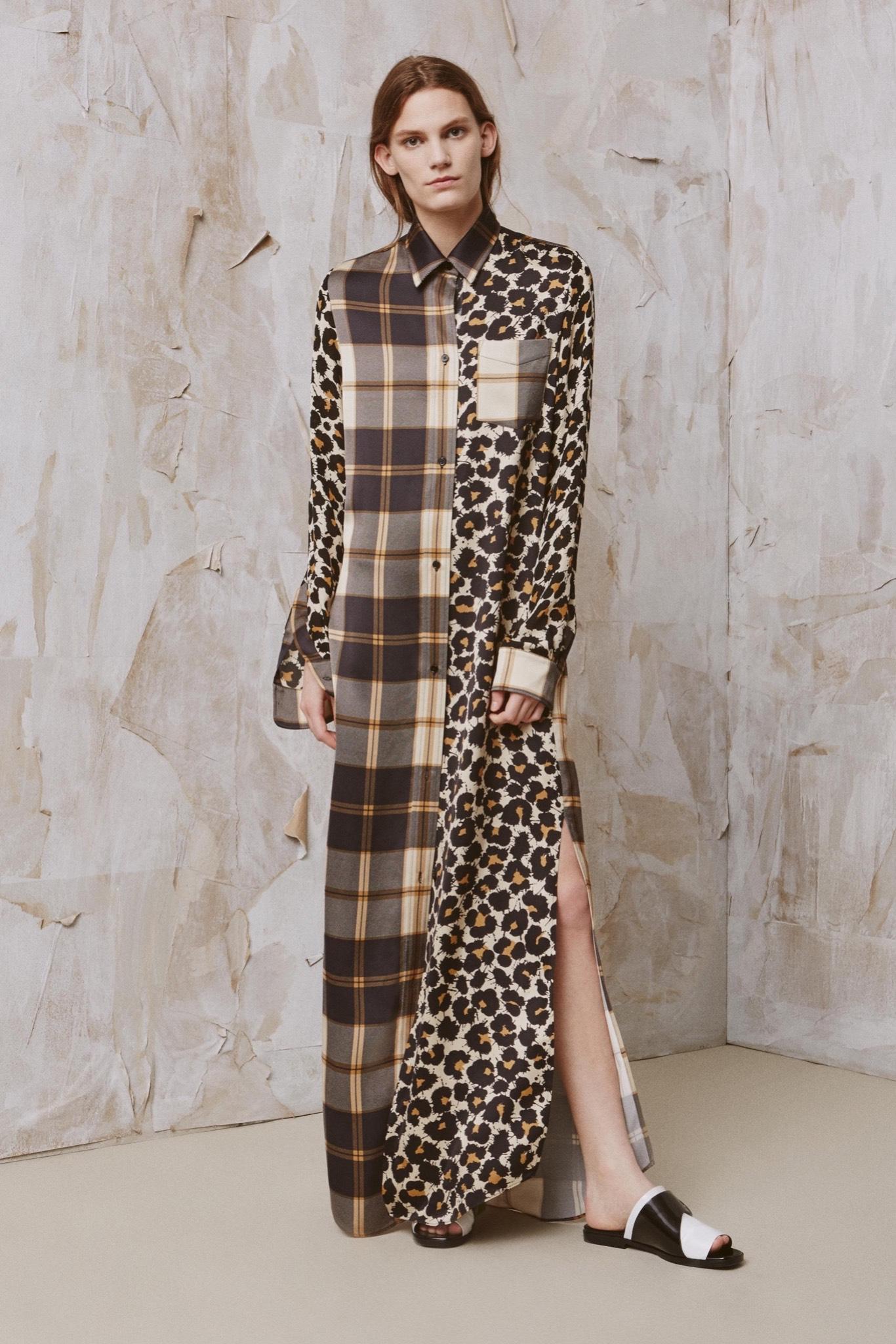 Платье леопардовое длинное