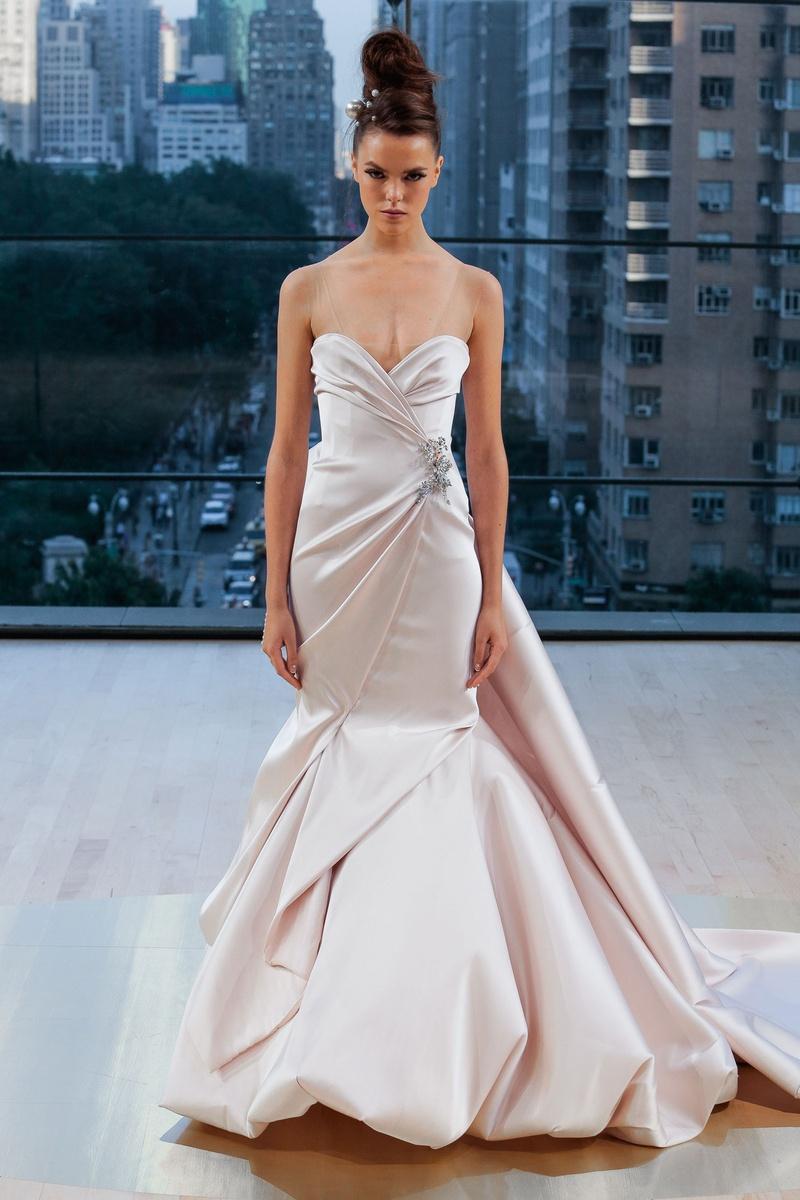Свадебное платье рыбка с драпировкой