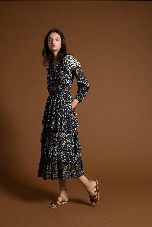 Повседневное платье этно комбинированное