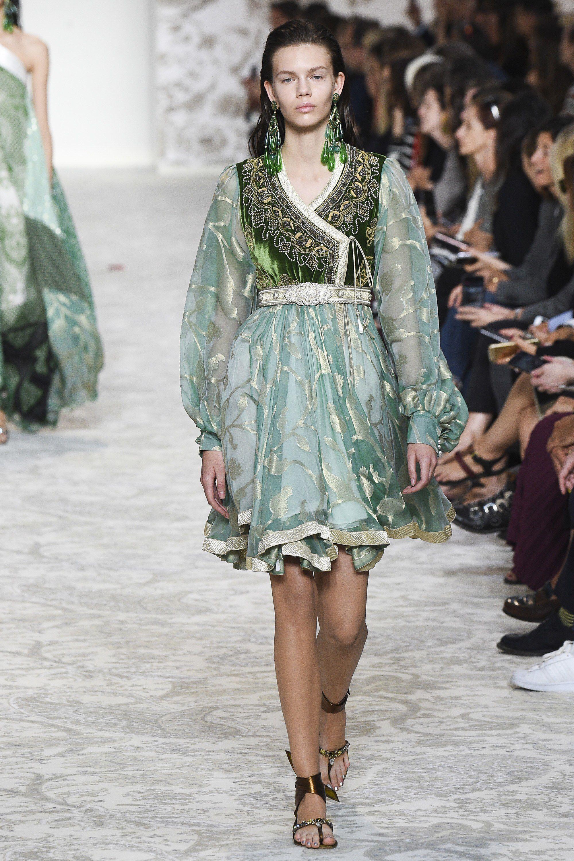 Повседневное платье этно зеленое