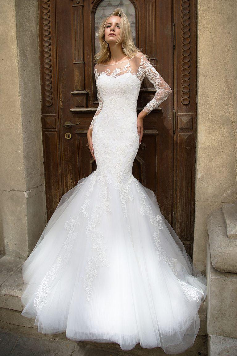 Свадебное платье рыбка из фатина