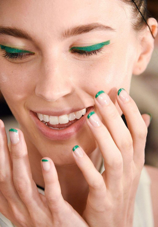 Зеленый френч цветной