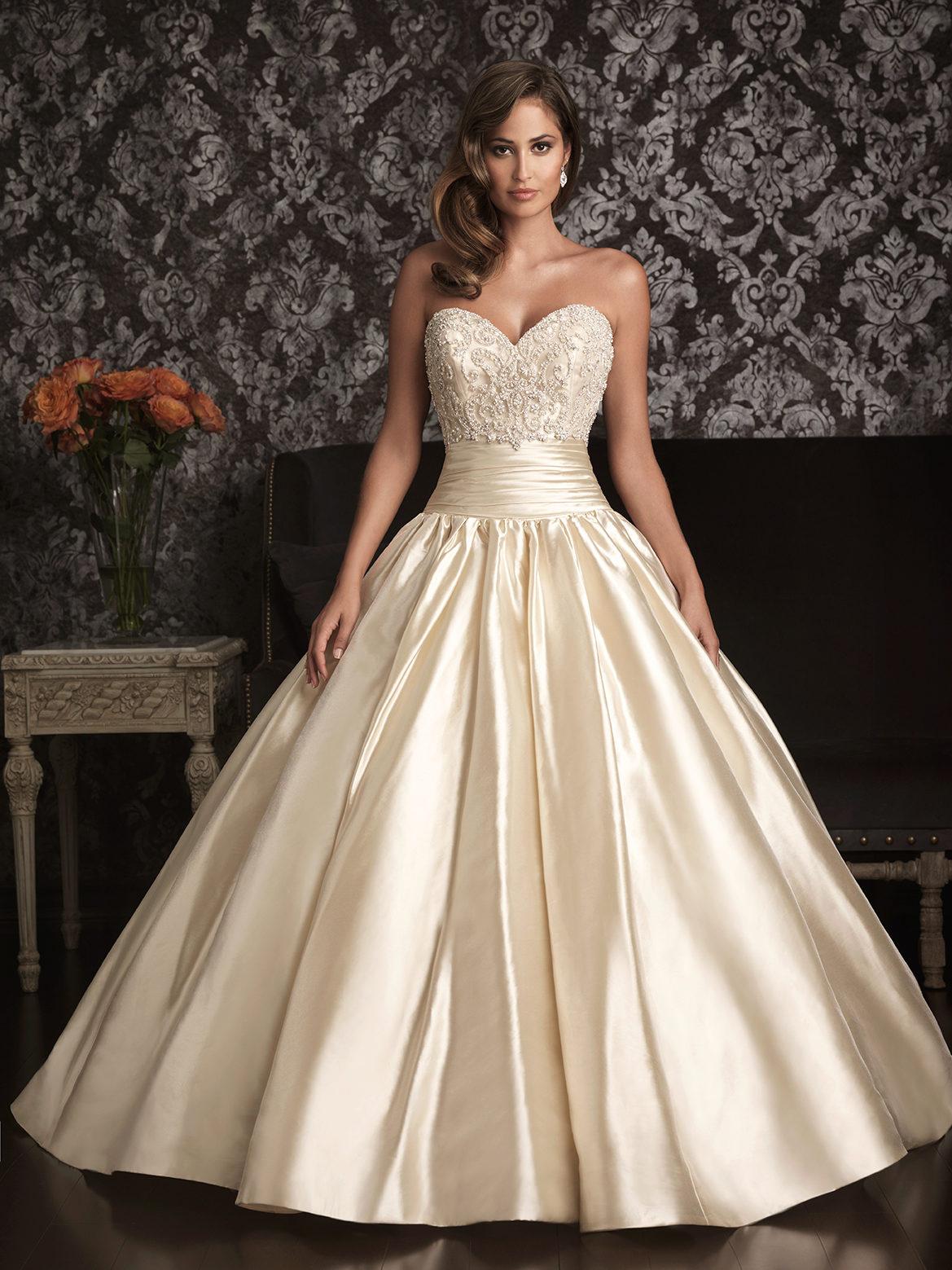 Свадебное платье айвори гладкое