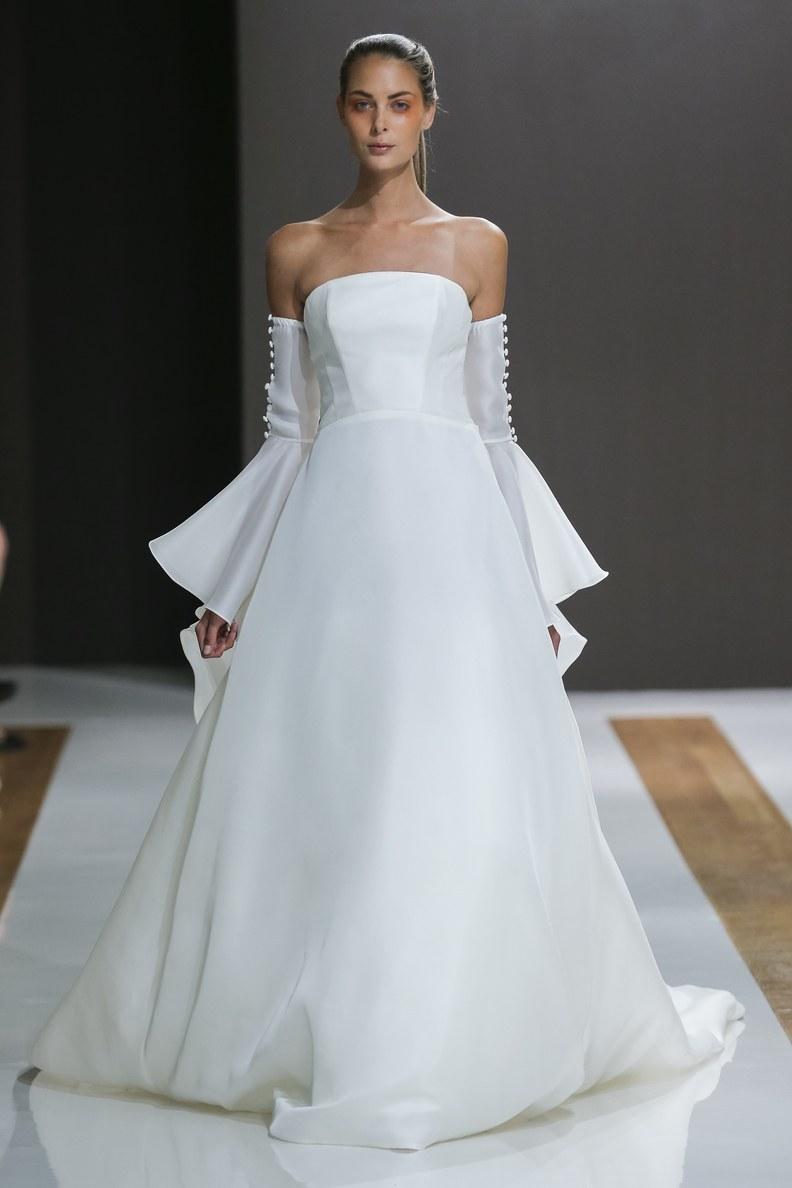 Свадебное платье для беременных гладкое