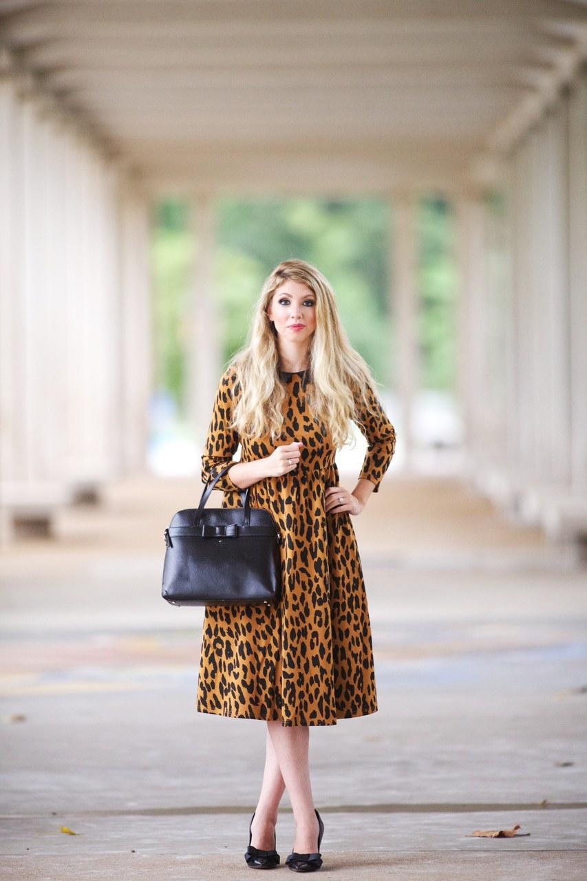 Платье леопардовое горчичного цвета
