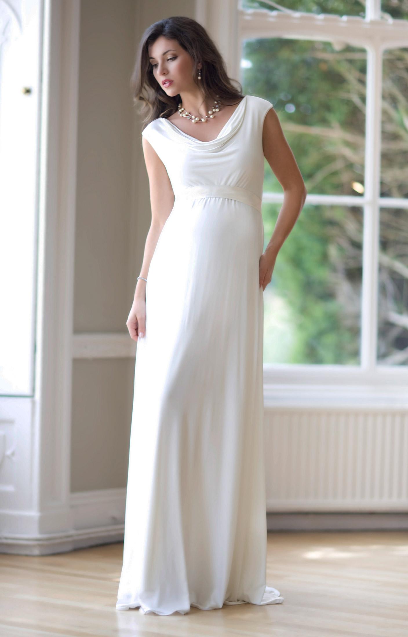 Свадебное платье для беременных греческое