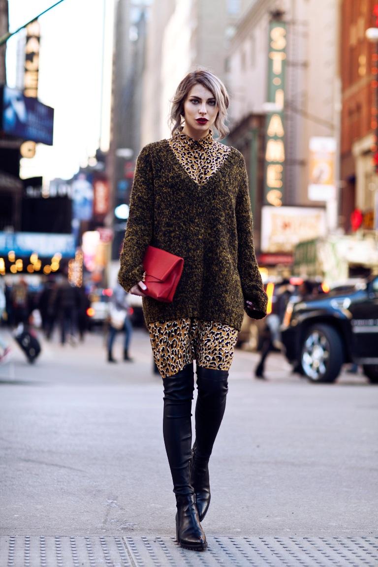 Платье леопардовое коричневое