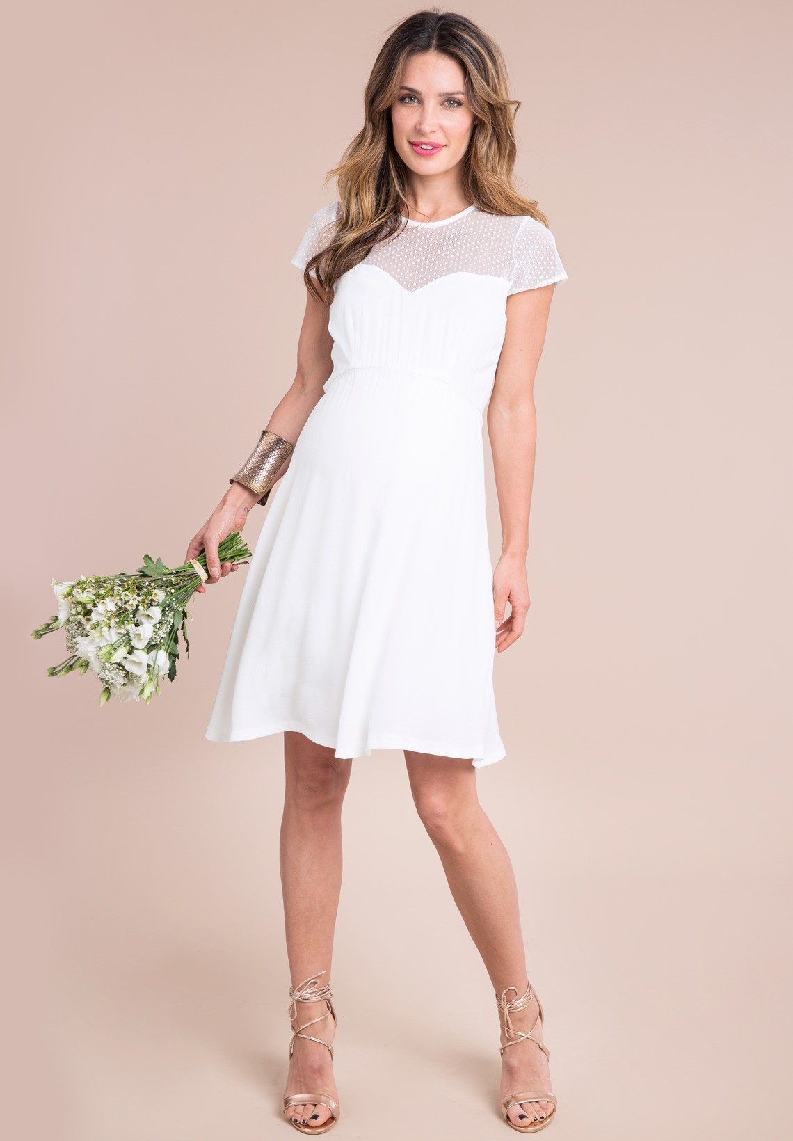 Свадебное платье для беременных короткое