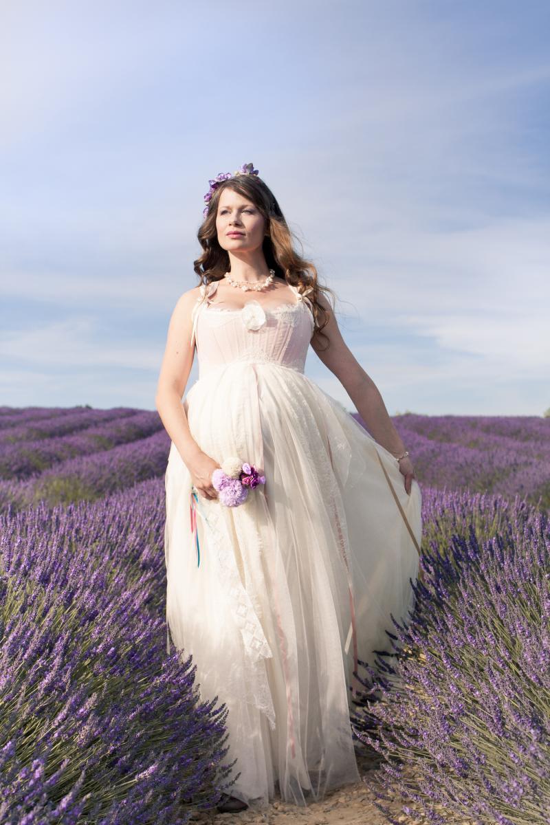Свадебное платье для беременных с корсетом