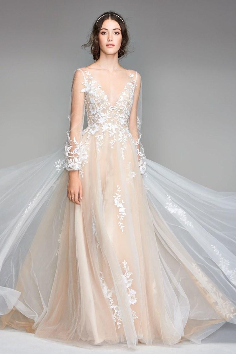 Свадебное платье айвори красивое