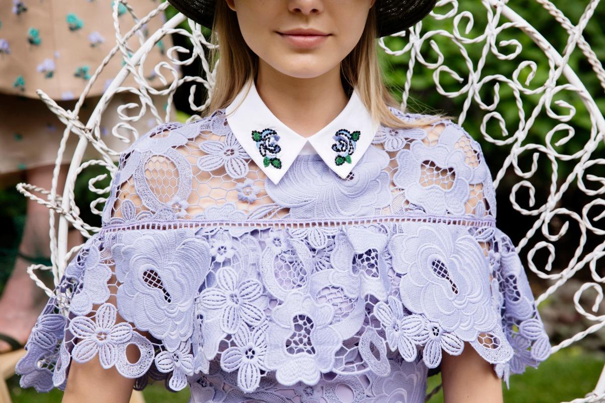 Повседневное платье кружевное фиолетовое