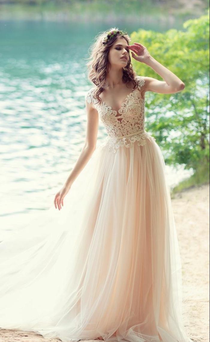 Свадебное платье айвори кружевное