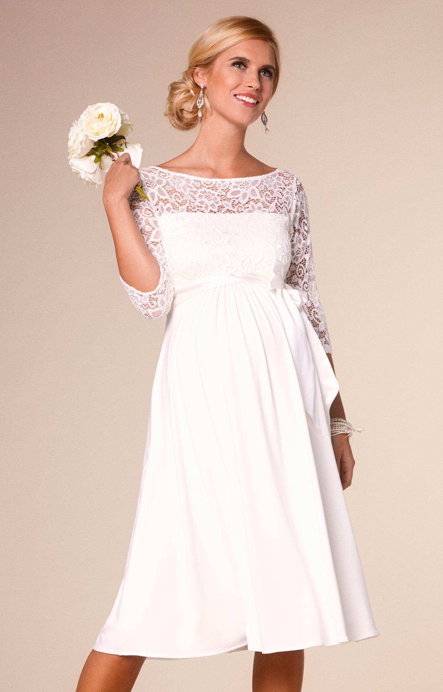 Свадебное платье для беременных кружевное