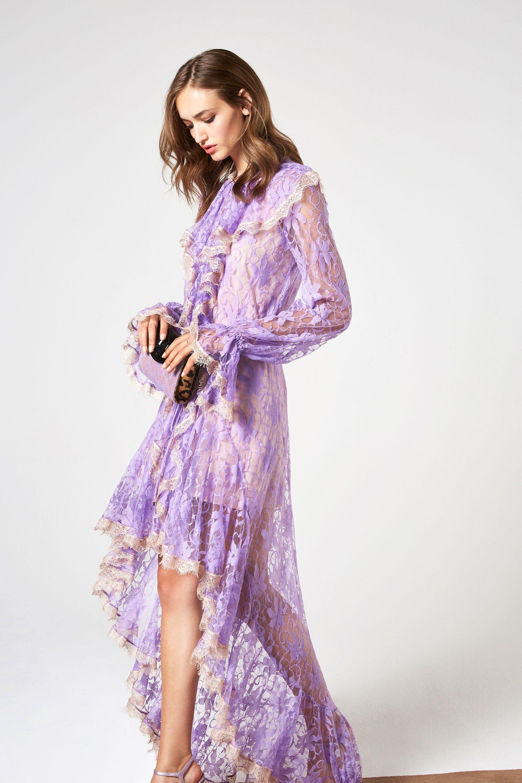 Повседневное платье кружевное длинное