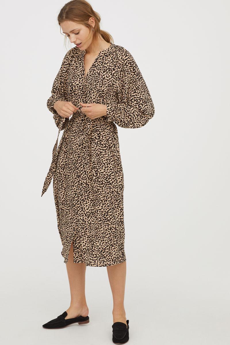 Платье леопардовое в мелкий принт