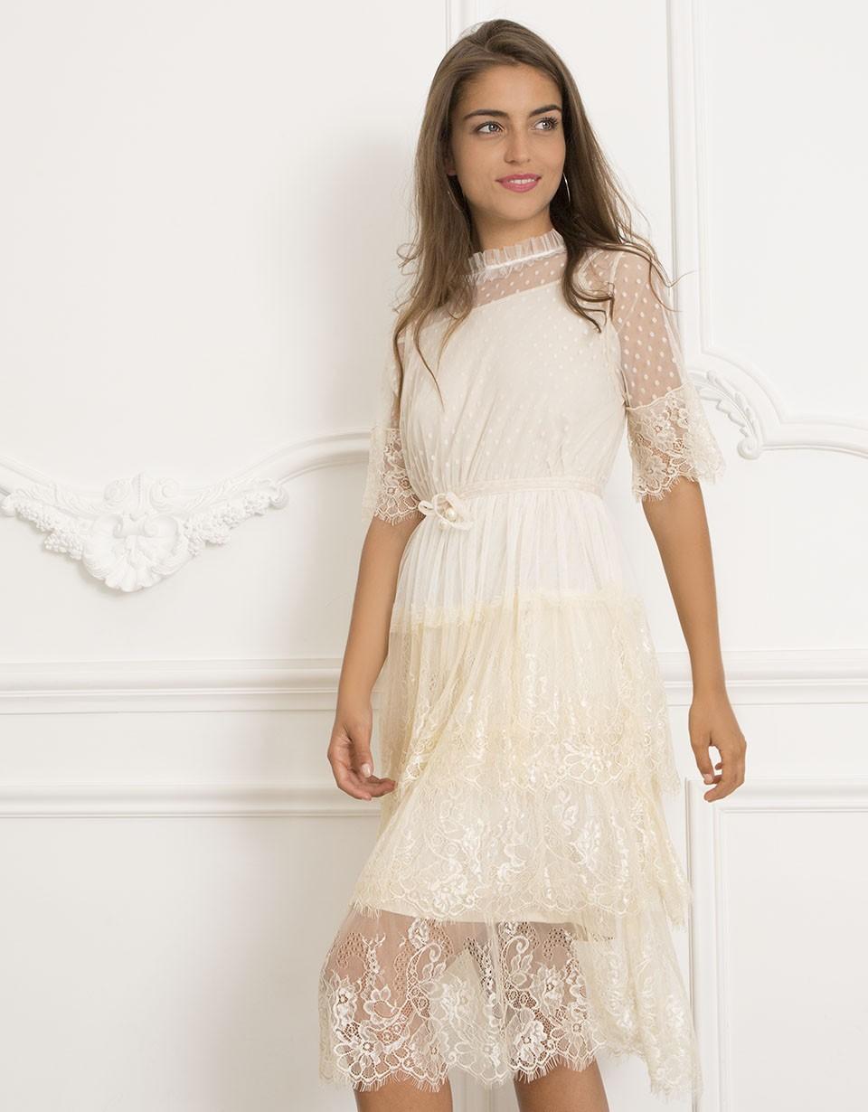 Свадебное платье айвори миди