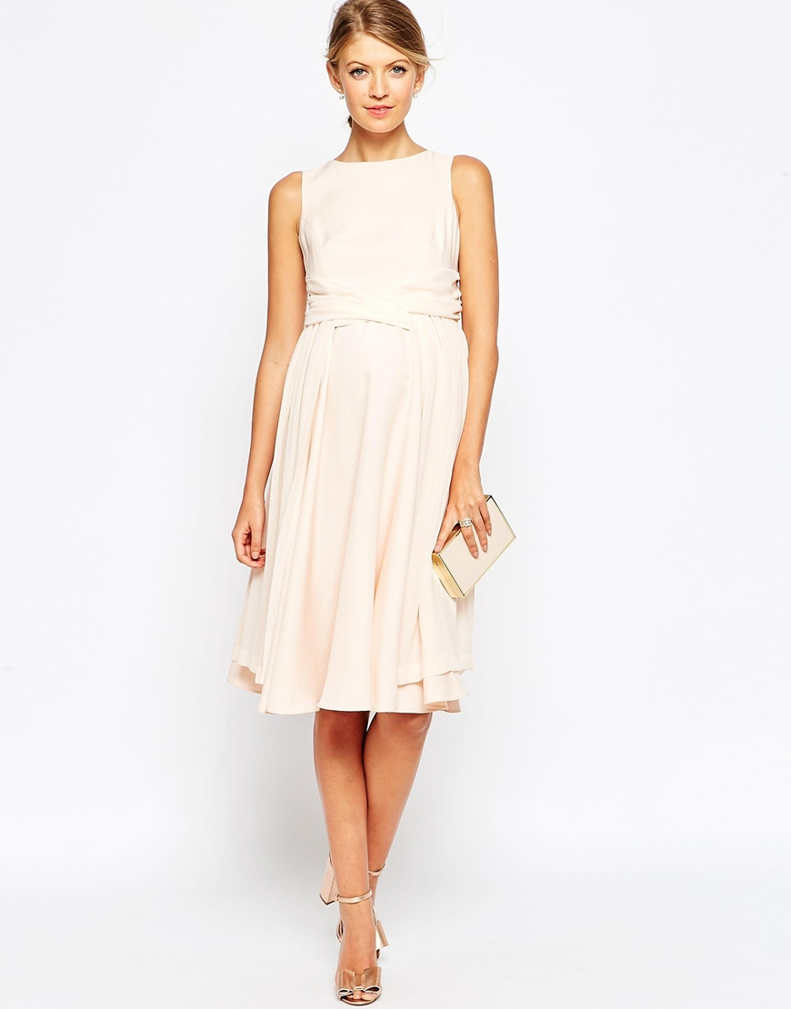 Свадебное платье для беременных миди