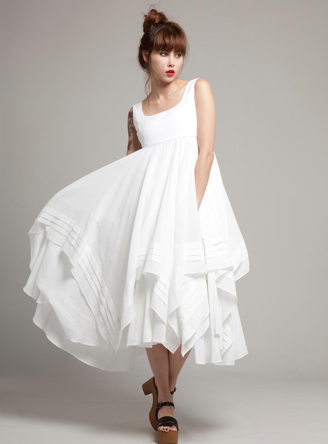 Свадебное платье для беременных многослойное